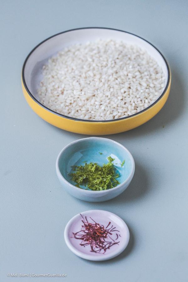 Reis, Limettenschale, Safran |GourmetGuerilla.de