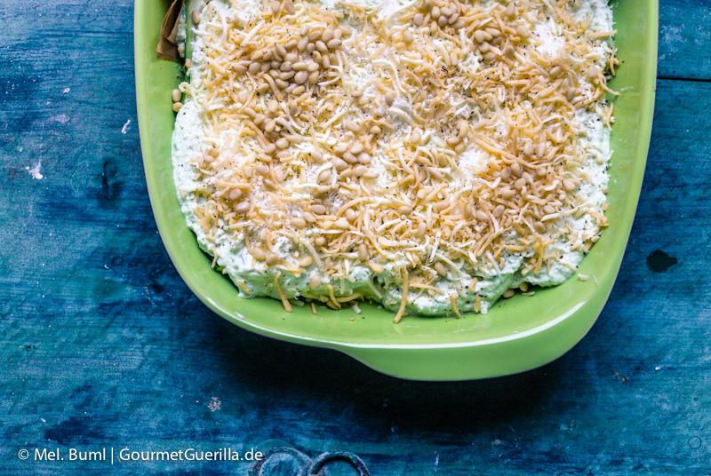 Fertig zum Backen: Low Carb Zucchini-Quark-Lasagne |GourmetGuerilla.de