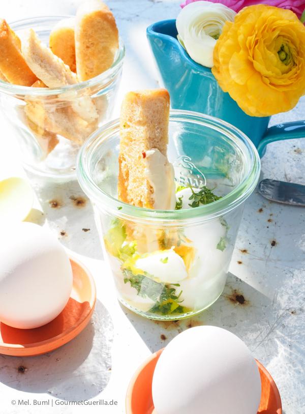 Kräuter-Eier im Glas |GourmetGuerilla.de