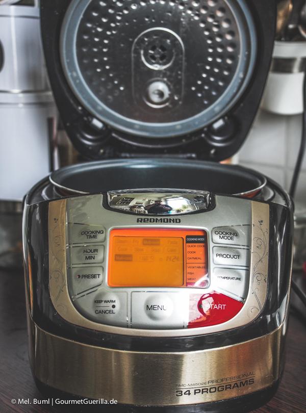 Multicooker Redmond RMC-M4502E Professional |GourmetGuerilla.de