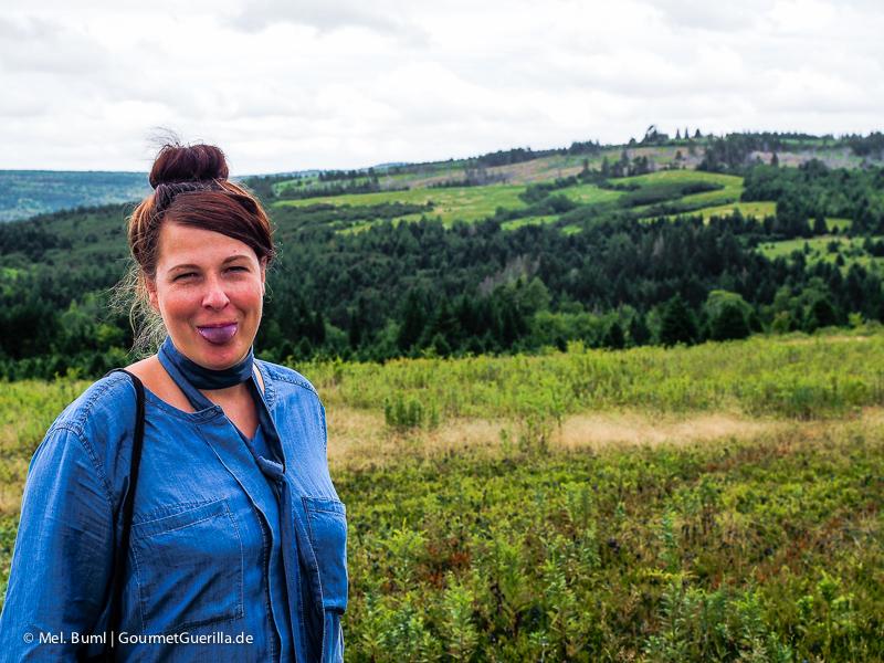 Kanada Nova Scotia Wilde Blaubeeren probieren auf dem Feld |GourmetGuerilla.de