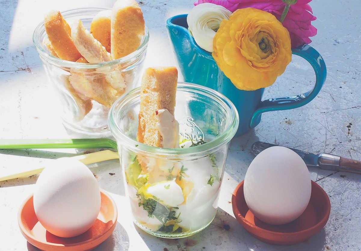 Kräuter-Eier im Glas  GourmetGuerilla.de