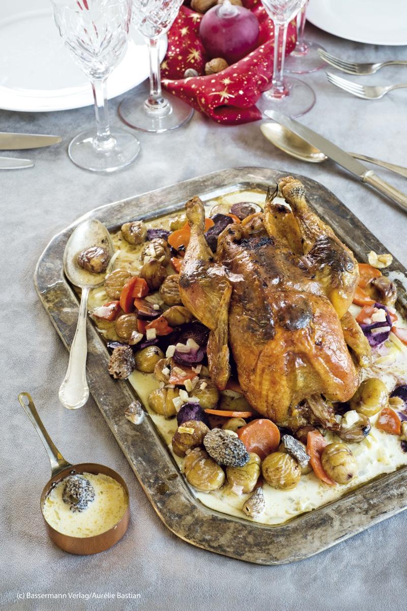 chapon aux morilles aus Französisch kochen mit Aurelie |GourmetGuerilla.de
