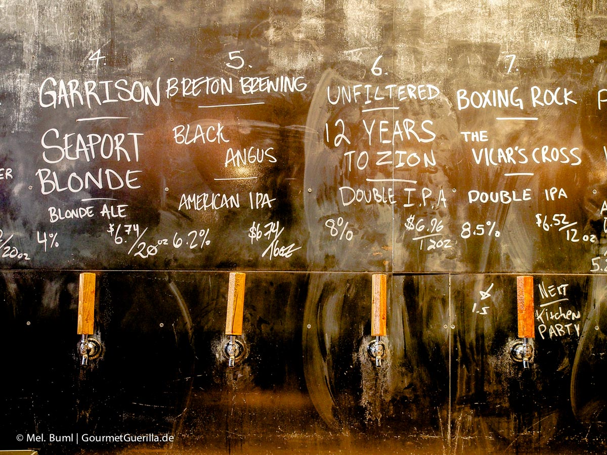Bierauswahl Stillwell Craft Beer Bar in Halifax Kanada | GourmetGuerilla.de