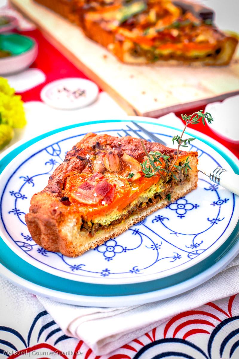 Suedafrikanische Tarte Capetown mit Suesskartoffel und Erdnuss ]GourmetGuerilla.de-