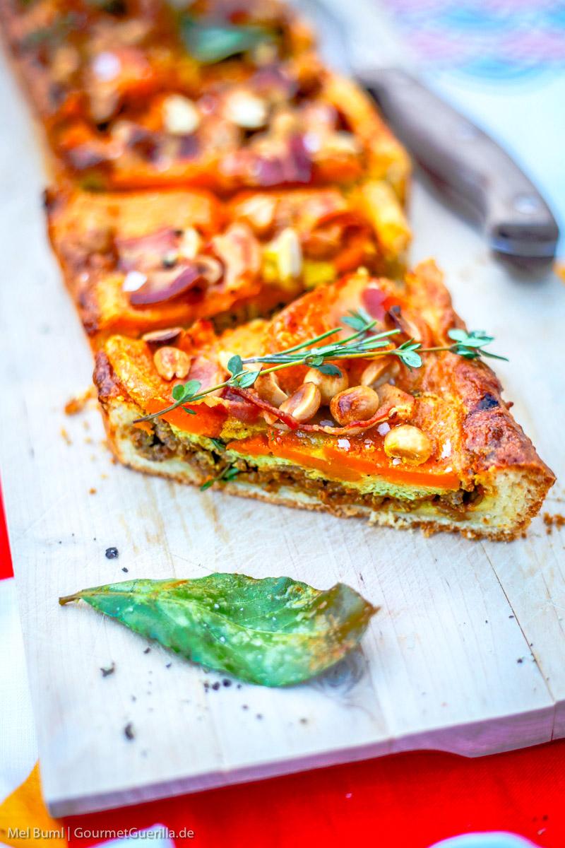 Südafrikanische Tarte Capetown mit Süßkartoffel und Erdnuss |GourmetGuerilla.de