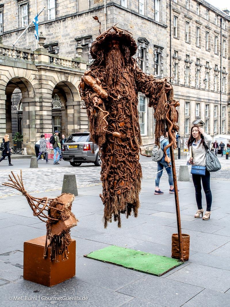 Kurz-Tripp Edinburgh Straßenkünstler |GourmetGuerilla.de