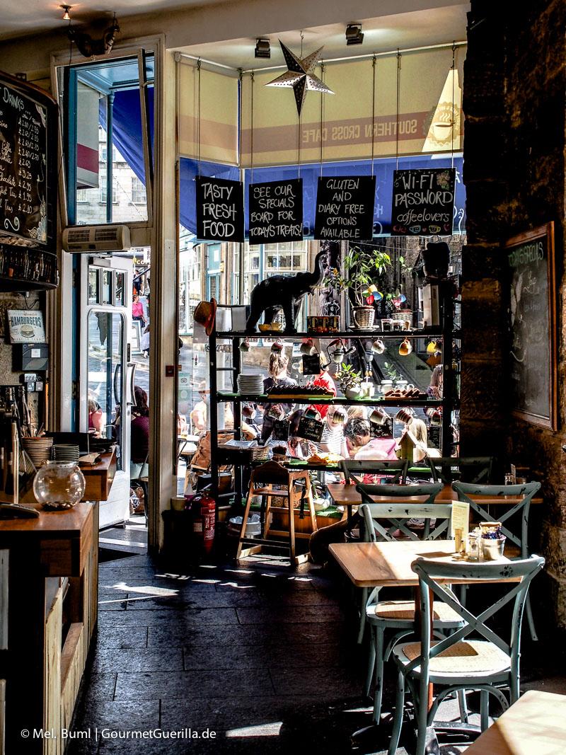 Kurz-Tripp Edinburgh Southern Cross Cafe|GourmetGuerilla.de