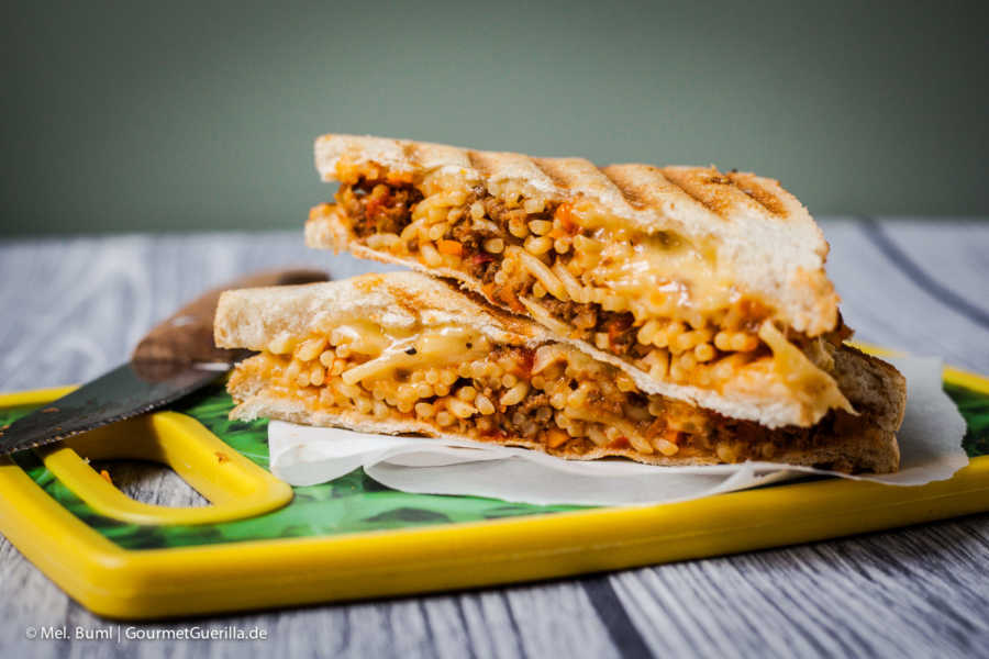 "{Soul Food} Grilled Cheese Sandwich ""Spag Bol"" 