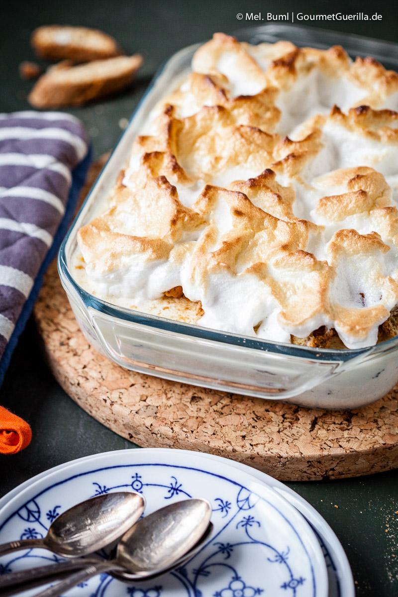 {Dessert}Gebackenes Eis mit Portwein-Feigen und Cantuccini |GourmetGuerilla.de