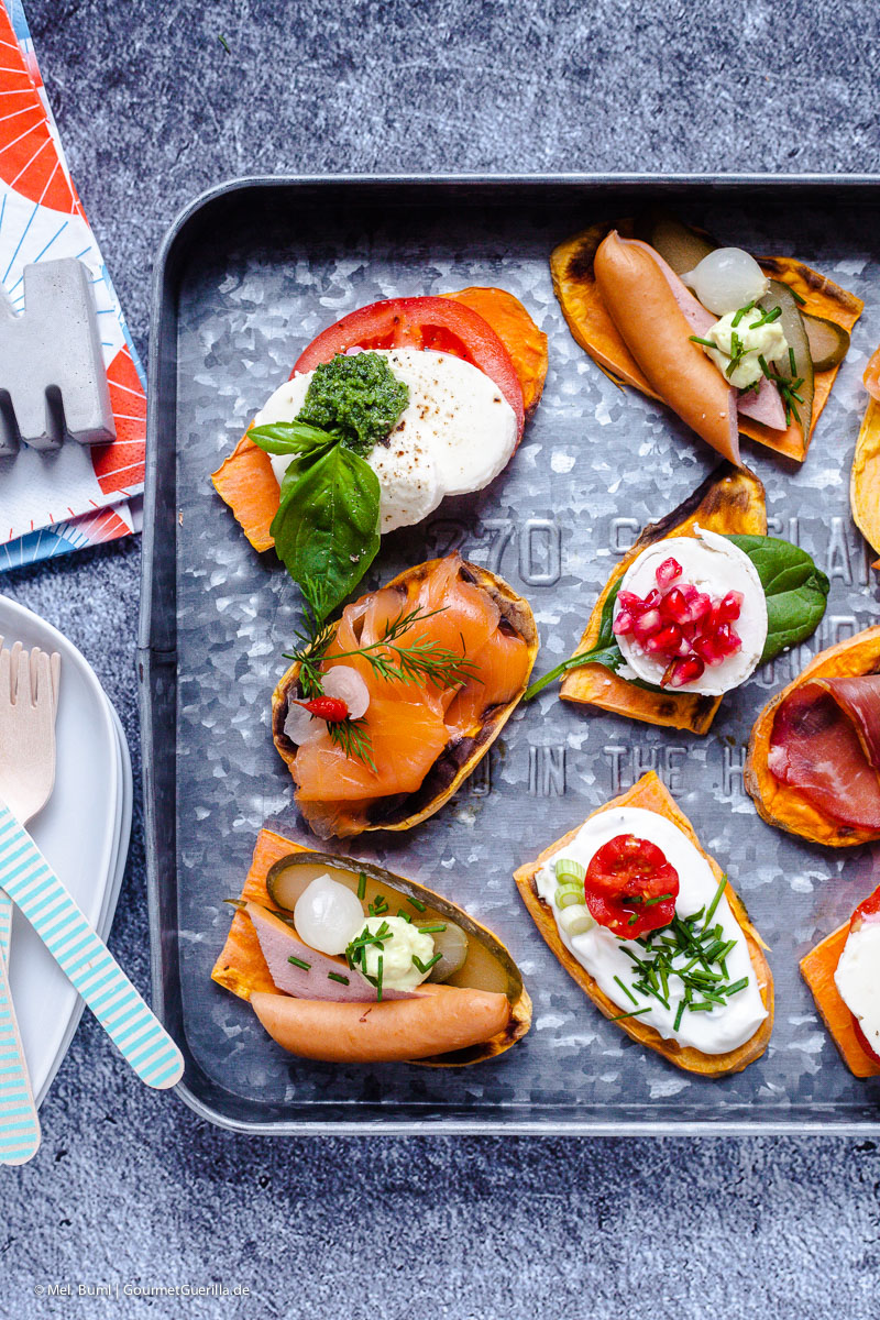 Healthy Low-Carb Snack: Süßkartoffel- Schnittchen aus dem Toaster. Fertig in 5 Minuten! |GourmetGuerilla.de
