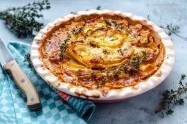 Low-Carb Steckrüben- Gratin mit Thymian-Hack und Paprika |GourmetGuerilla.de