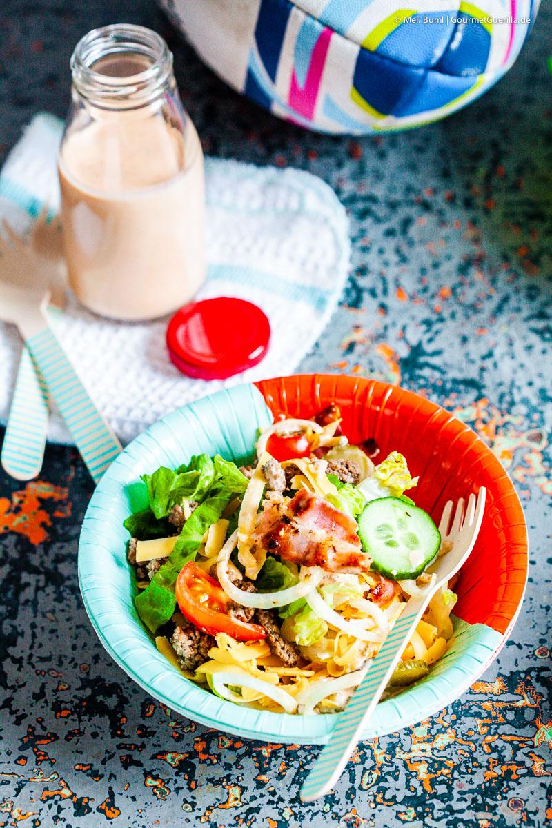 Salat Big Mac mit Bacon und Ei |GourmetGuerilla.de