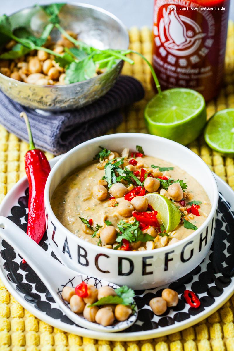 Hummus Thai-Style mit Erdnuss, Limette und Siracha |GoumetGuerilla.de