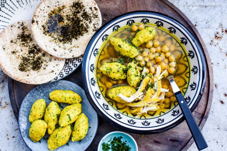 Persische Hühnersuppe mit Ghondi-Klößchen, Kichererbsen und Safran |GourmetGuerilla.de