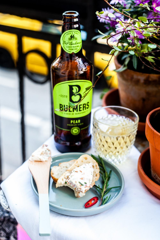 Kugel von Ziegenfrischkäse mit Rosmarin und Bacon in Cider-Vinaigrette |GourmetGuerilla.de