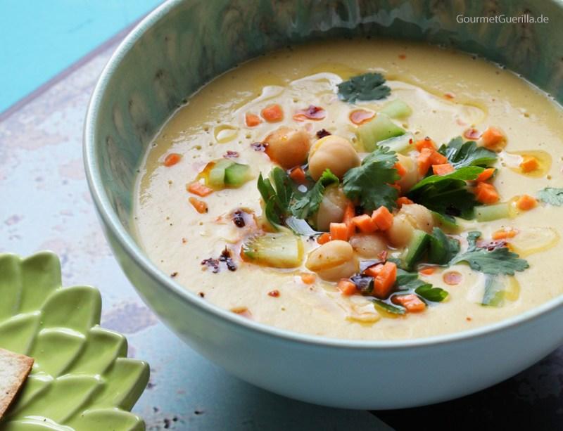 Samtige Hummus-Suppe |GourmetGuerilla.de