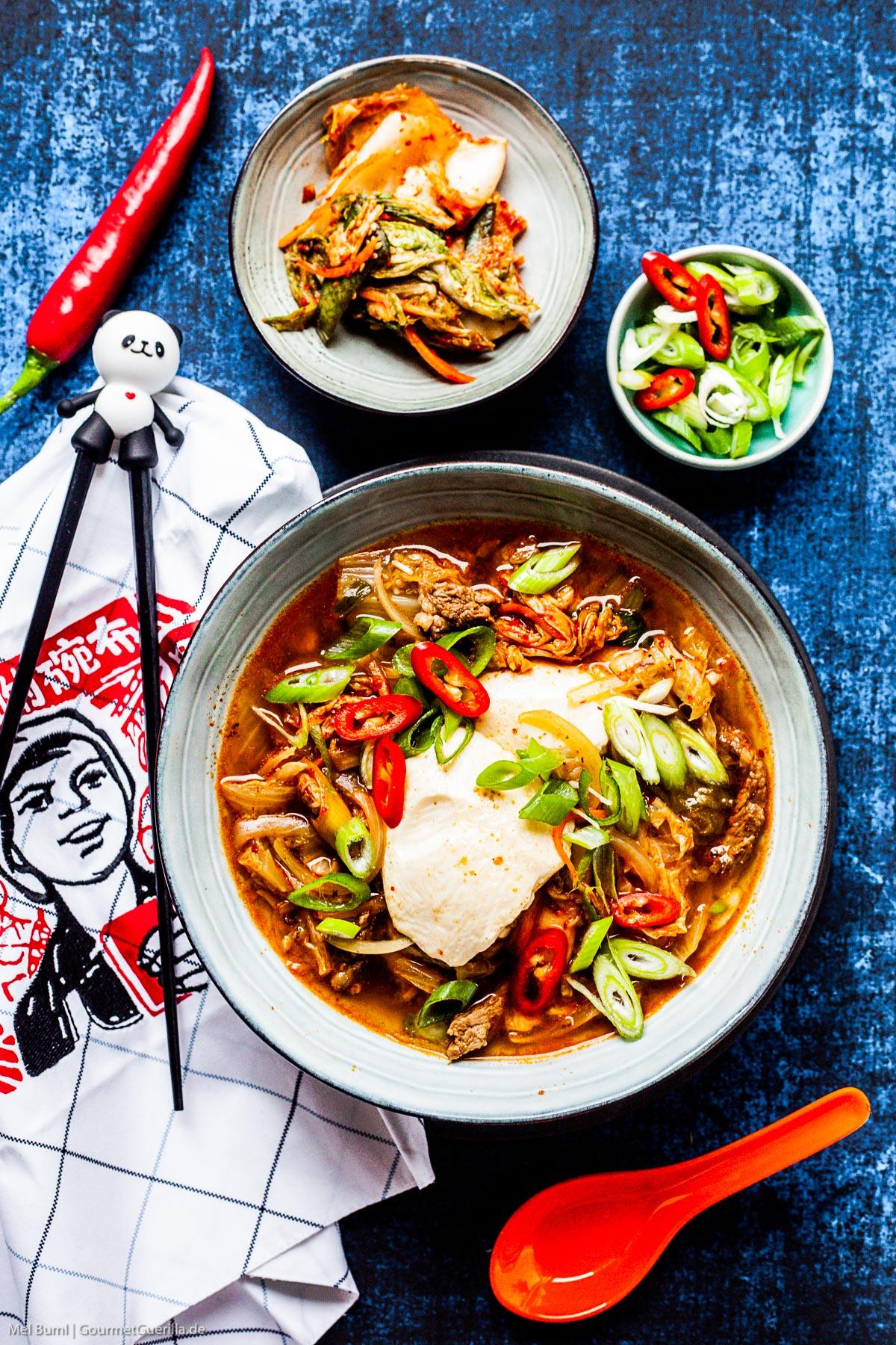 Schneller Koreanischer Tofu-Eintopf mit Kimchi Sundubu JJigae  GourmetGuerilla.de