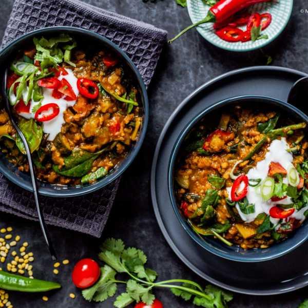 "Gemüse-Dhal ""Golden India"" unter 500 kcal mit viel Eiweiss |GourmetGuerilla.de"