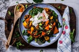 Low Carb Tikka Curry Hack-Pfanne mit Hokkaido und Spinat - in 20 Min. fertig und 500 kcal |GourmetGuerilla.de