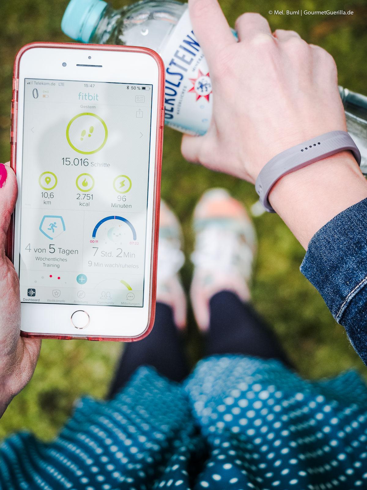 Fitness-Tracker 15.00 Schritte am Tag während der Trink-Challenge 2018 |GourmetGuerilla.de
