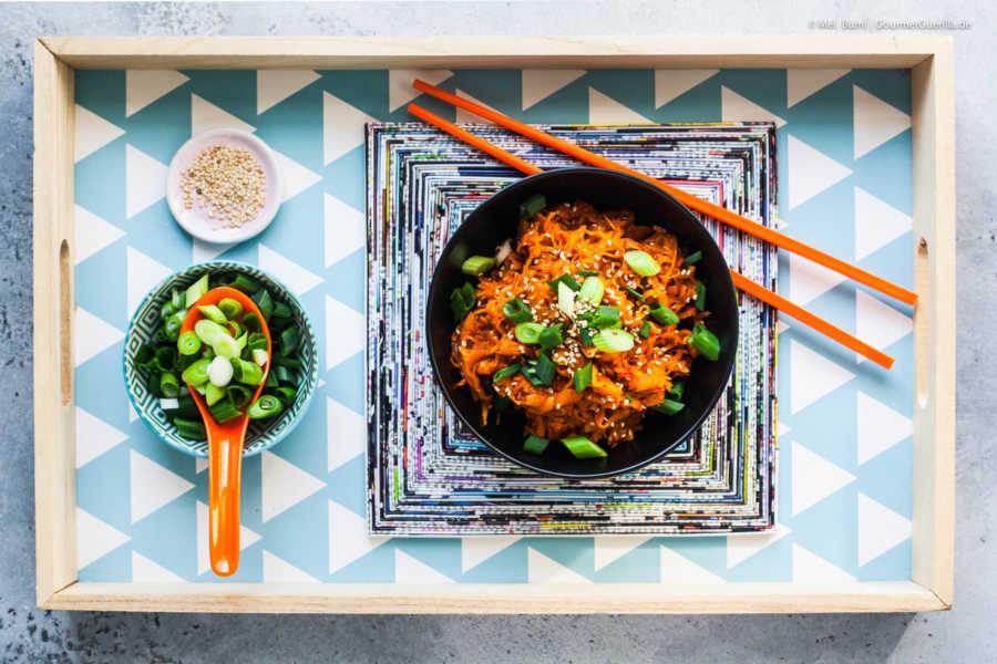 2-Minuten Instant Kimchi - blitzschnell, koreanisch scharf mit viel Vitamin C |GourmetGuerilla.de