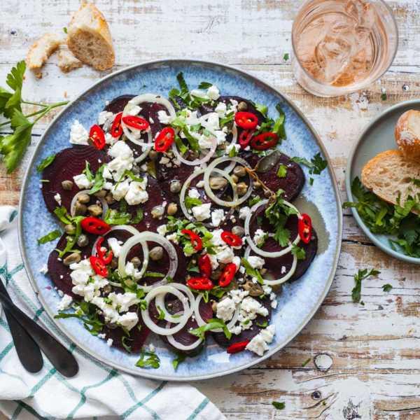 Rote Bete Salat mit Kapern und Feta - in 5 Minuten auf dem Tisch |GourmetGuerilla.de