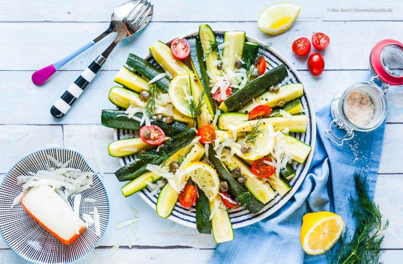 Zucchini- Salat mit Ziegenkäse, Dill und Zitrone |GourmetGuerilla.de