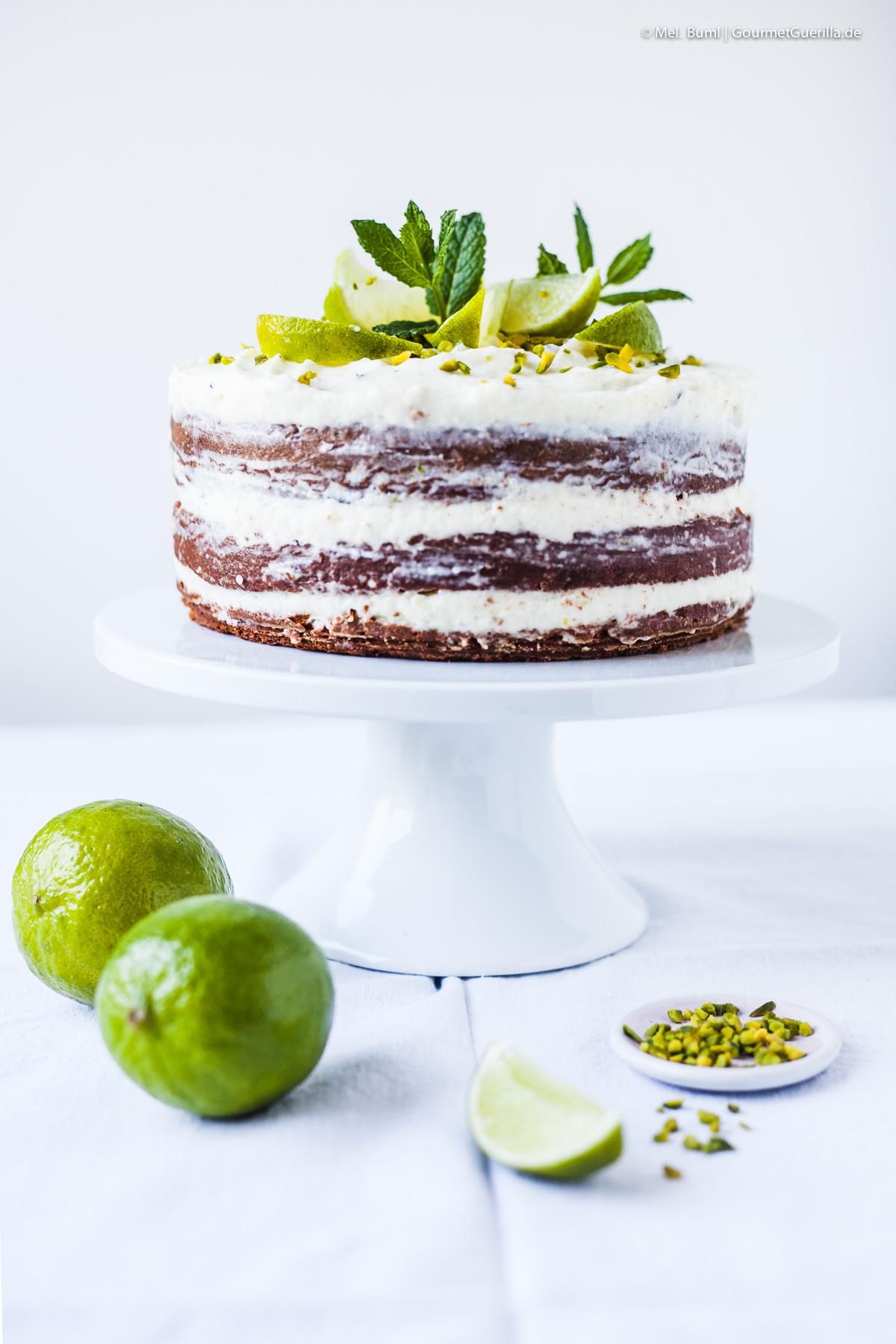 White Chocolate Mojito Naked Cake |GourmetGuerilla.de