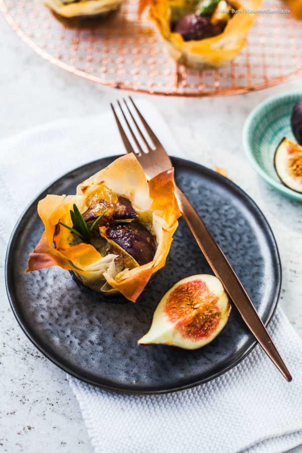 Feigen mit Blue Stilton und einem Hauch Chutney im Filoteig |GourmetGuerilla.de