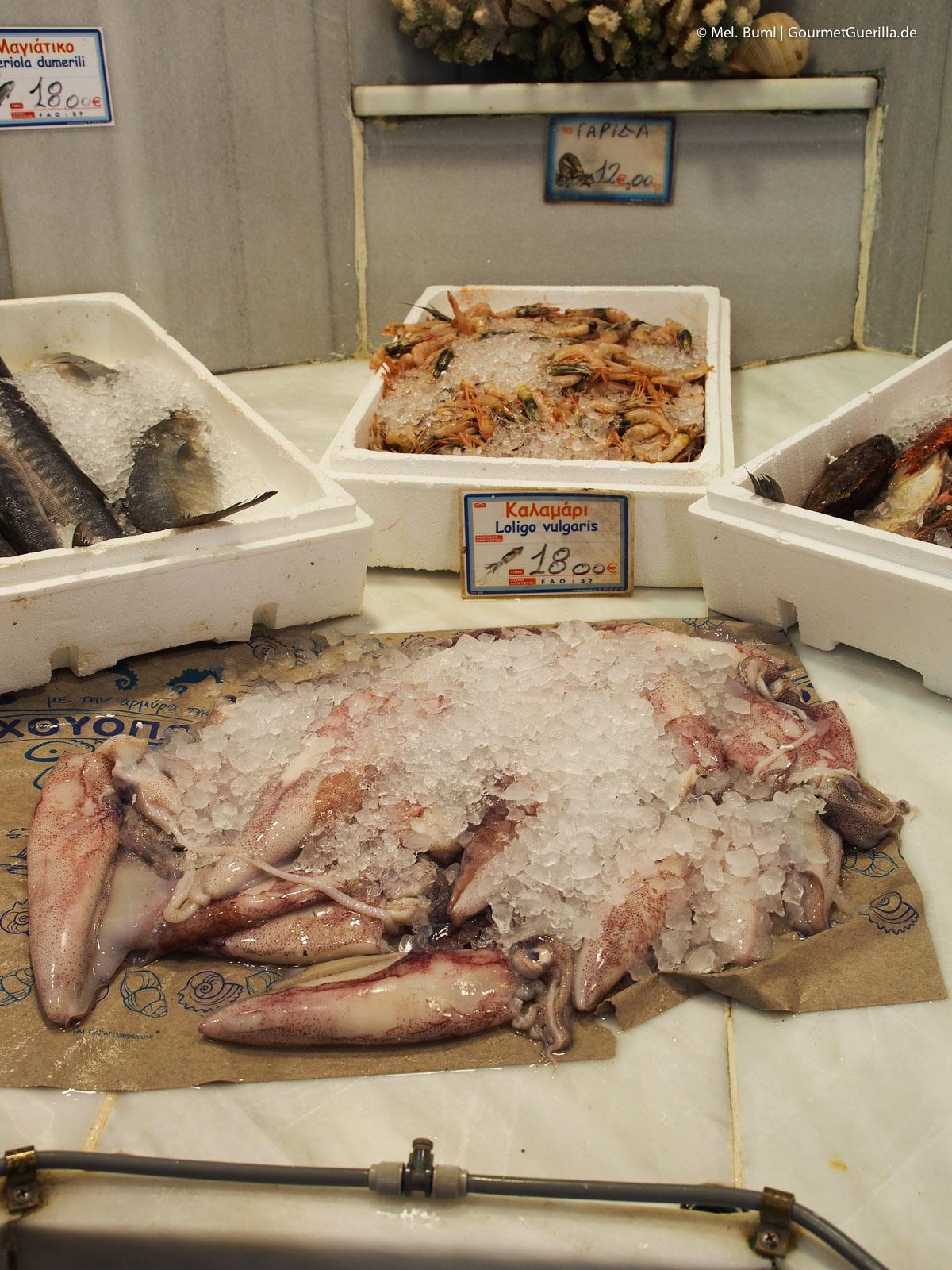 Frischer Fisch Hora Reisebericht Tinos Foodpath griechische Insel Kykladen Griechenland |GourmetGuerilla.de