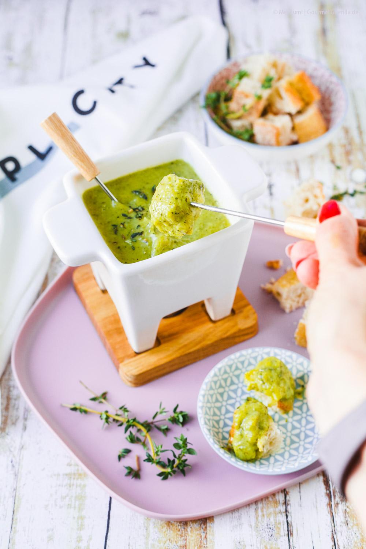 Leichtes Zucchini- Fondue mit Bergkäse aus Heumilch g.t.S. |GourmetGuerilla.de