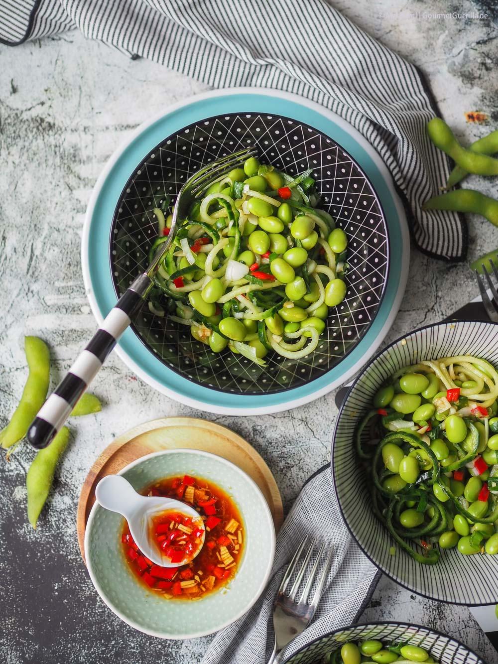 Daves veganer Edamame-Gurken-Salat |GourmetGuerilla.de