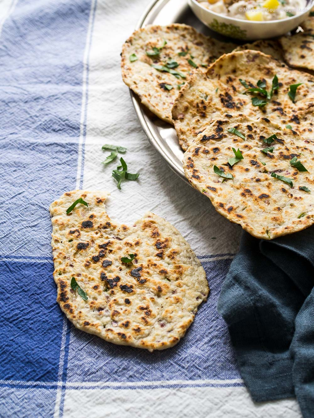 Kokosnuss-Roti - schnelles indisches Pfannenbrot |GourmetGuerilla.de