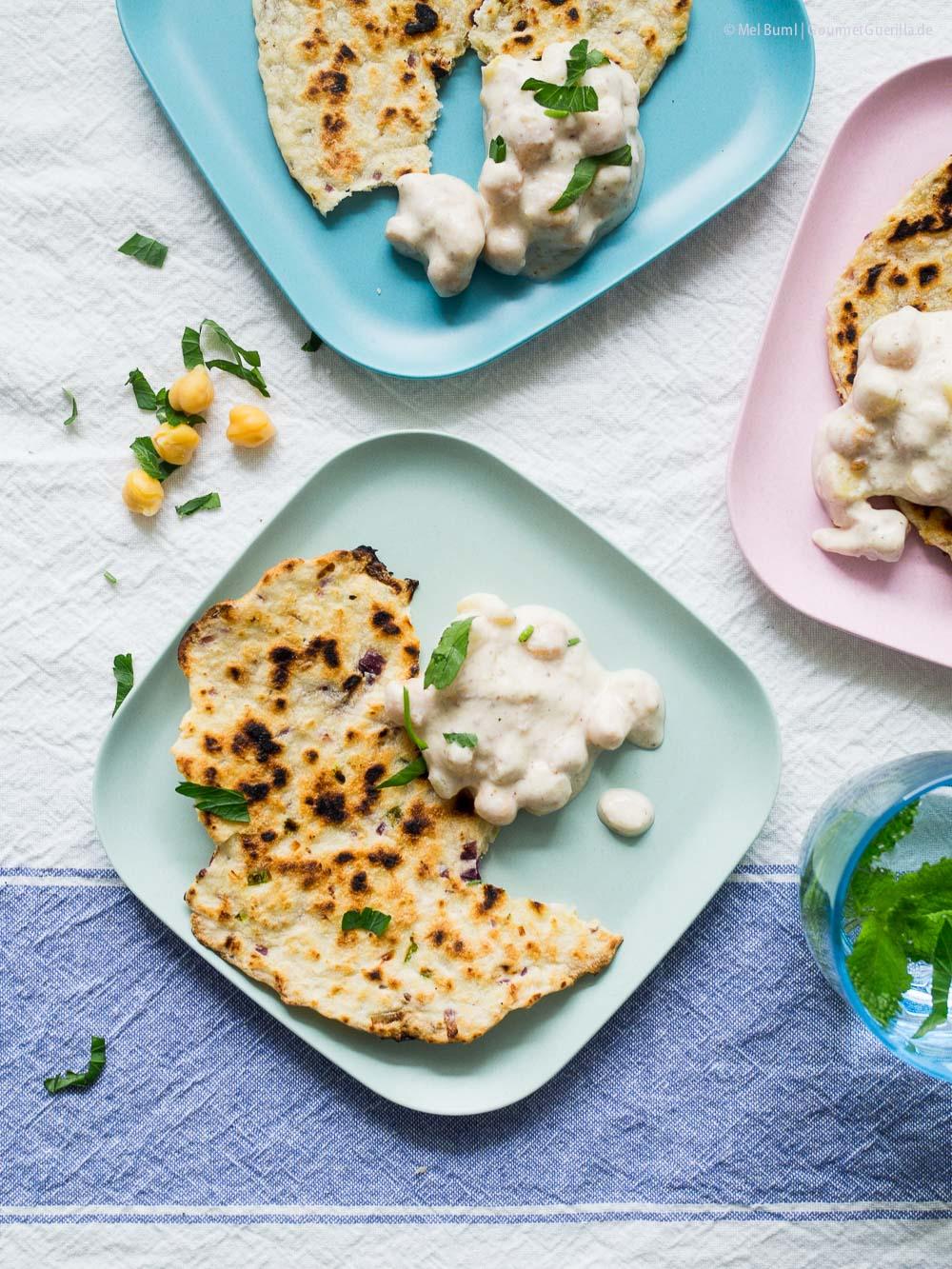 Indische Raita aus Kartoffeln, Joghurt und Kichererbsen |GourmetGuerilla.de