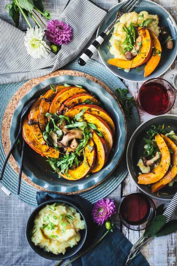 Gebackener Kürbis mit Pilzen und Kartoffelstampf |GourmetGuerilla.de