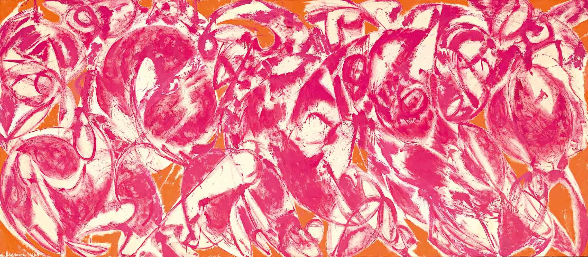 LEE KRASNER, 11. OKTOBER 2019 – 12. JANUAR 2020, Lee Krasner, Combat, 1965, National Gallery of Victoria, Melbourne, Felton Bequest, 1992 (IC1-1992). © VG Bild-Kunst Bonn, 2019 & The Pollock-Krasner Foundation/ ARS, New York. Licensed by Copyright Agency, 2018.