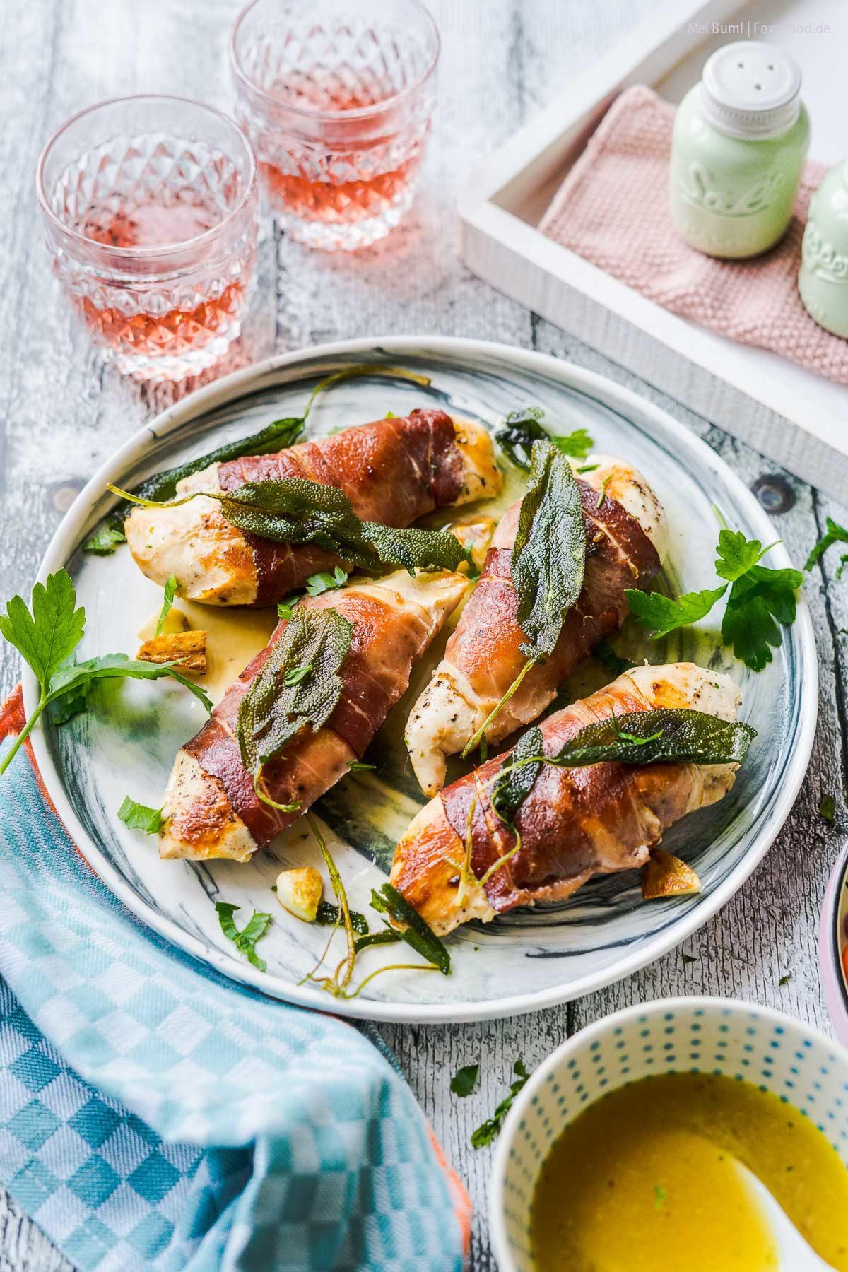 Hähnchenbrust Saltimbocca sous-vide aus dem Bosch Cookit |FoxyFood.de