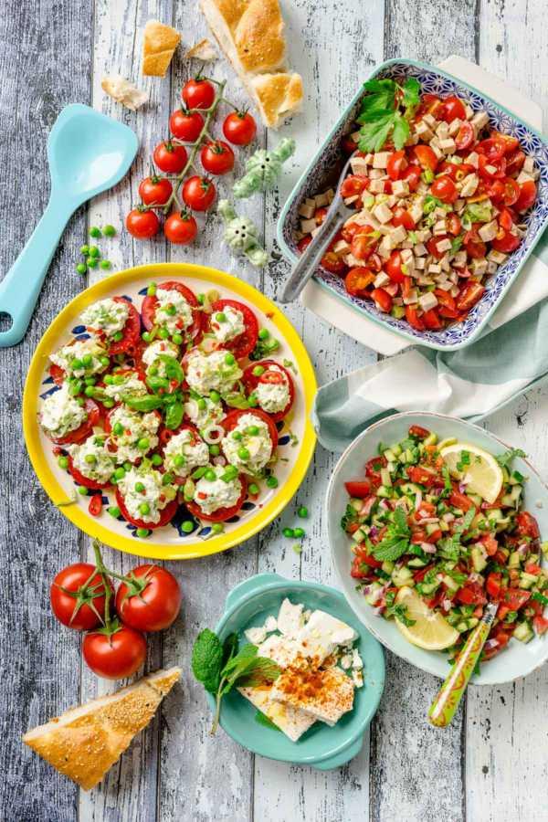 Meine 3 liebsten Tomatensalate für den Sommer Rezepte Familie |FoxyFood.de