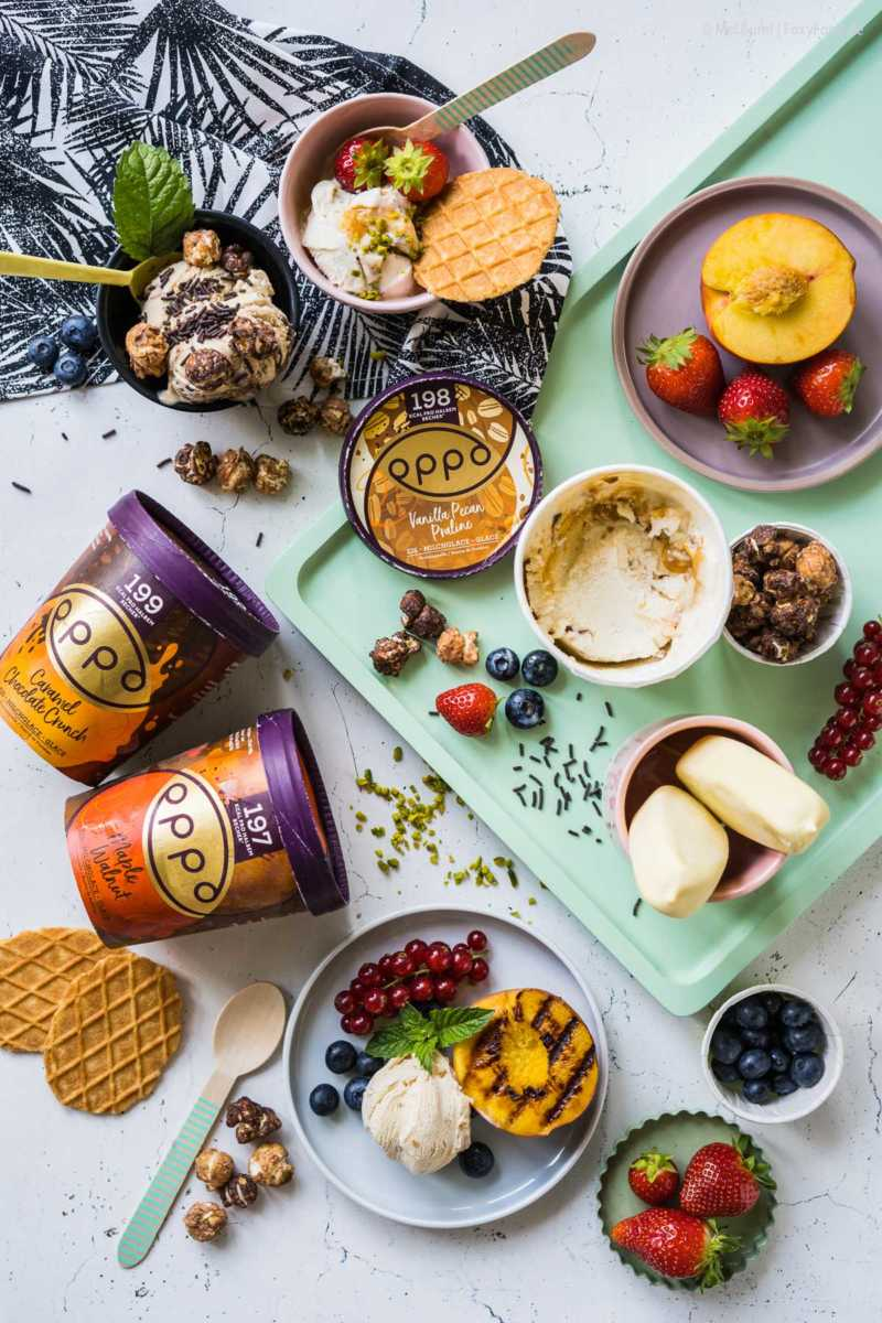 Tipps für Lieblings-Eisbecher mit wenig Kalorien und gutem Gewissen Oppo Eiscreme |FoxyFood.de