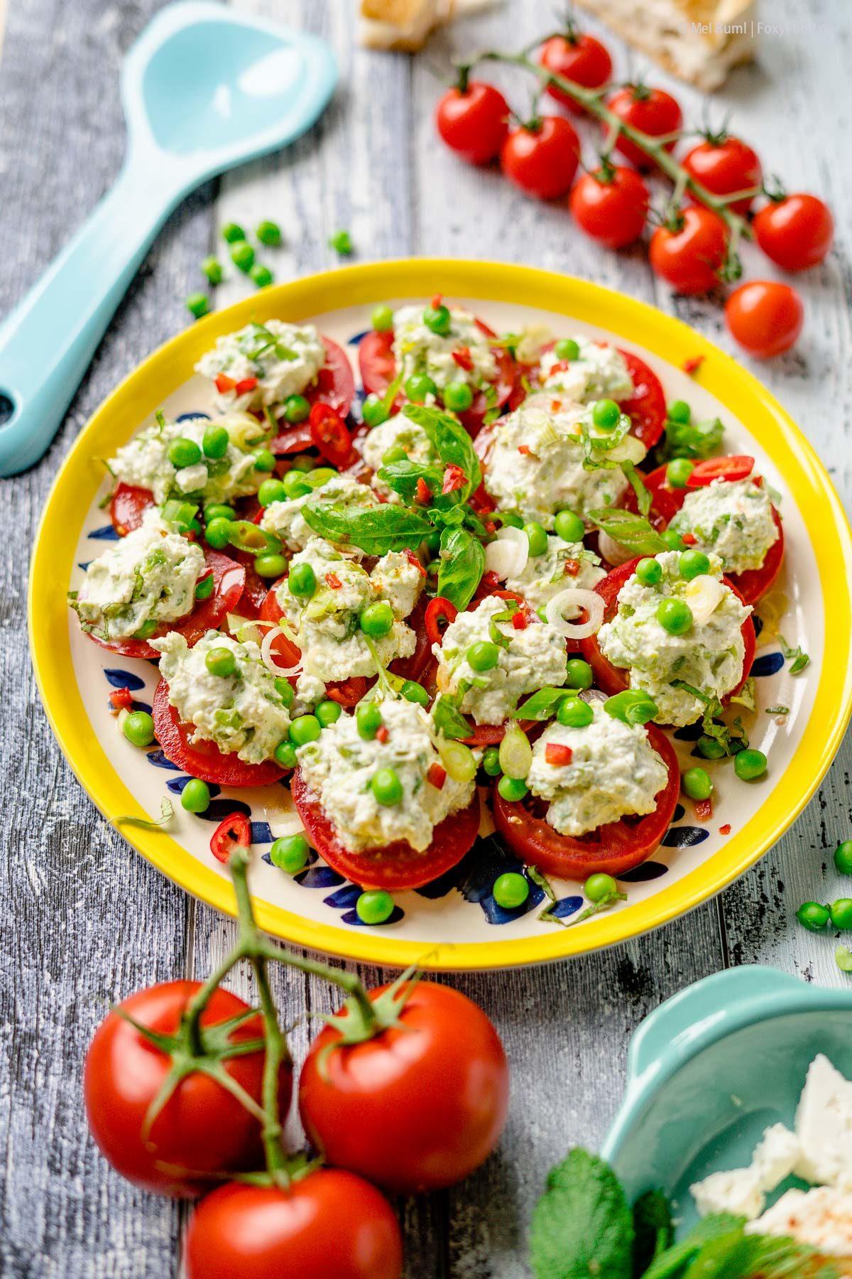 Meine 3 liebsten Tomatensalate für den Sommer Rezepte Familie  FoxyFood.de